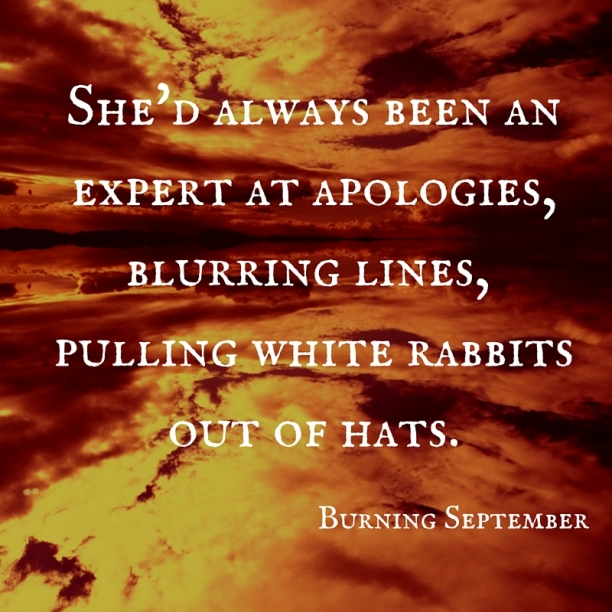 She'd always been an expert at apologies,blurring lines, pulling white rabbitsout of hats. (1)
